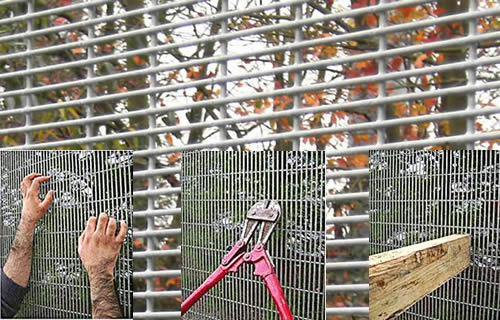 358 High Security Fence Anti Climbing With Y Post