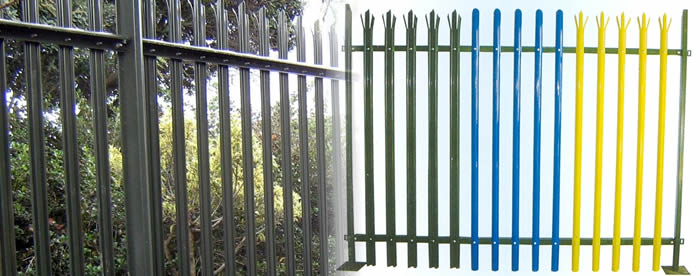 Hot Dipped Galvanized Palisade Fencing, W Profile