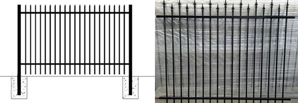 Steel Picket Fence, Ornamental Security Fencing